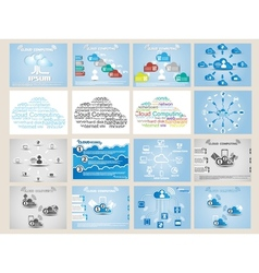 MEGA COLLECTION WEB CLOUD COMPUTING INFOGRAPHIC vector