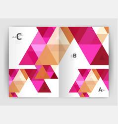 modern business brochure or leaflet print cover vector image