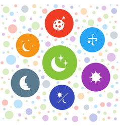 moon icons vector image