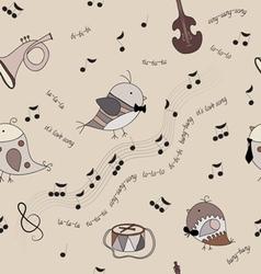 Music bird vector