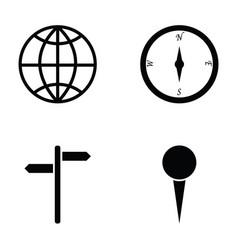 Navigation icons set vector