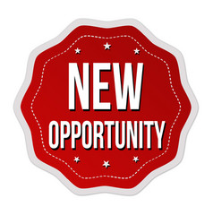 new opportunity label or sticker vector image