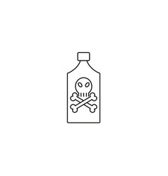 poison bottle line icon vector image