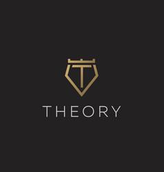 premium monogram letter t initials logotype vector image