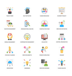 Project management flat design icons set vector