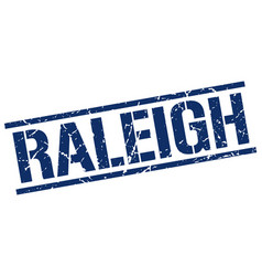 Raleigh blue square stamp vector