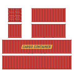 Red cargo container llustration vector