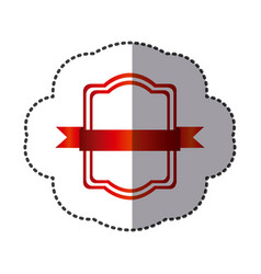 Red square emblem icon vector