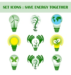 Se of ecology concept with design vector image