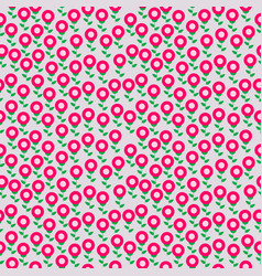 seamless retro floral pattern for fabric textile vector image