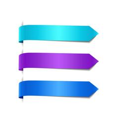 set blue decorative ribbons vector image