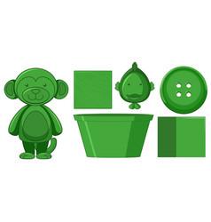 Set green toys vector
