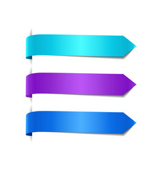 set of blue decorative ribbons vector image