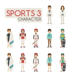 Set of cartoon sport characters eps10 for vector