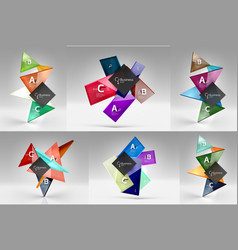 set of modern geometrical concepts design vector image