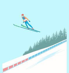 Ski jumping competitions vector
