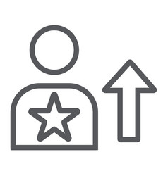 skill line icon employee and rating person sign vector image