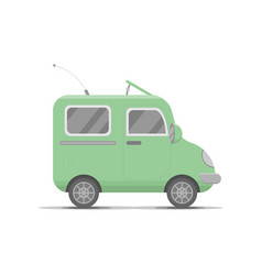 small green car transport flat cartoon cute vector image