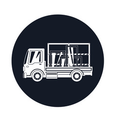 small truck transports windows icon vector image
