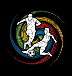 Soccer player action vector