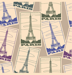 stickers travel paris vector image