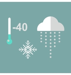 Thermometer cold temperature vector image