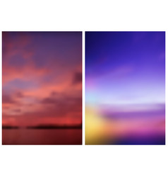 two blurred skies backgrounds vector image