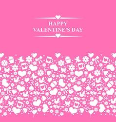 valentine el gorisontal pink vector image