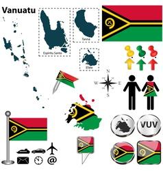 Vanuatu map vector
