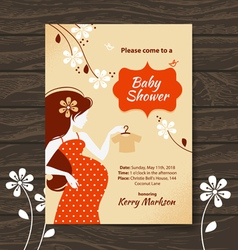 Vintage baby shower invitation vector