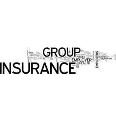 What is group insurance and can i find it online vector