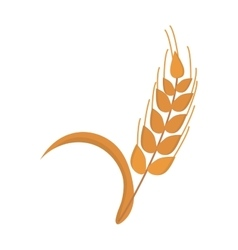 Wheat ear icon nature isolated on white vector