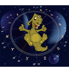 Zodiac signs dragon vector image