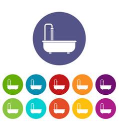 bathroom icons set flat vector image