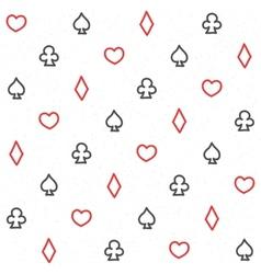 Casino pattern white vector image vector image