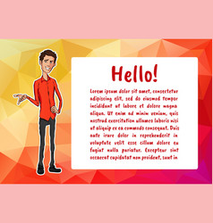 character with bubble talk vector image vector image