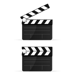 Movie clapper board set isolated vector