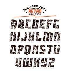Sans serif geometric military font vector image vector image