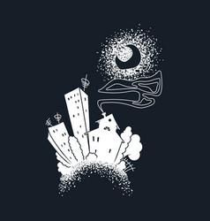cartoon dark city vector image