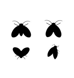 drain fly icons in silhouette style design vector image vector image