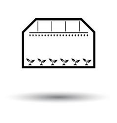 greenhouse icon vector image vector image
