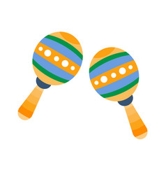 maracas part of musical instruments set of vector image vector image