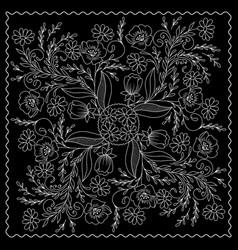 black and white bandana vector image
