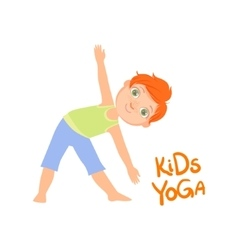Boy In Triangle Pose vector image vector image