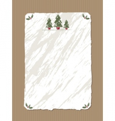 Christmas paper vector image vector image