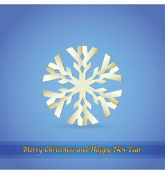 Paper snowflake christmas theme vector