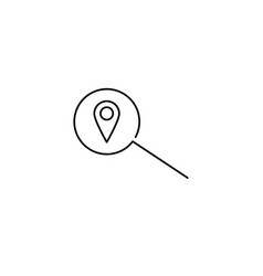 position search line icon vector image vector image