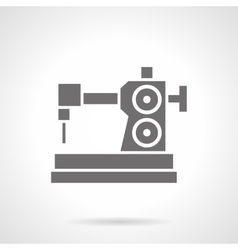 Sewing hobby glyph style icon vector image vector image