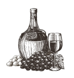 wine logo design template liqueur or vector image vector image