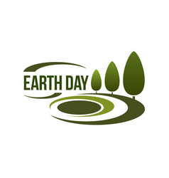 earth day icon for green nature ecology vector image vector image